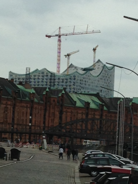 A glimpse of Elbphilharmonie, Hamburg's impressive new concert hall, which opens in Jan 2017